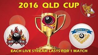 2016 Qld Cup - Men's 8 Ball Team - Hervey Bay V Gladstone