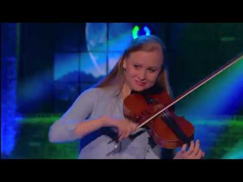 Hillary Klug BUCK Dances AND Fiddles On The Huckabee Stage ... Hillary Klug
