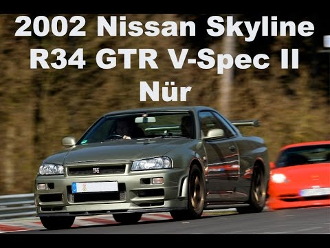 2002 Nissan Skyline R34 GTR V-Spec II Nur on the Nurburgring