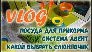 VLOG Посуда для прикорма, система Avent, как выбрать слюнявчик: сравнение четырех разных