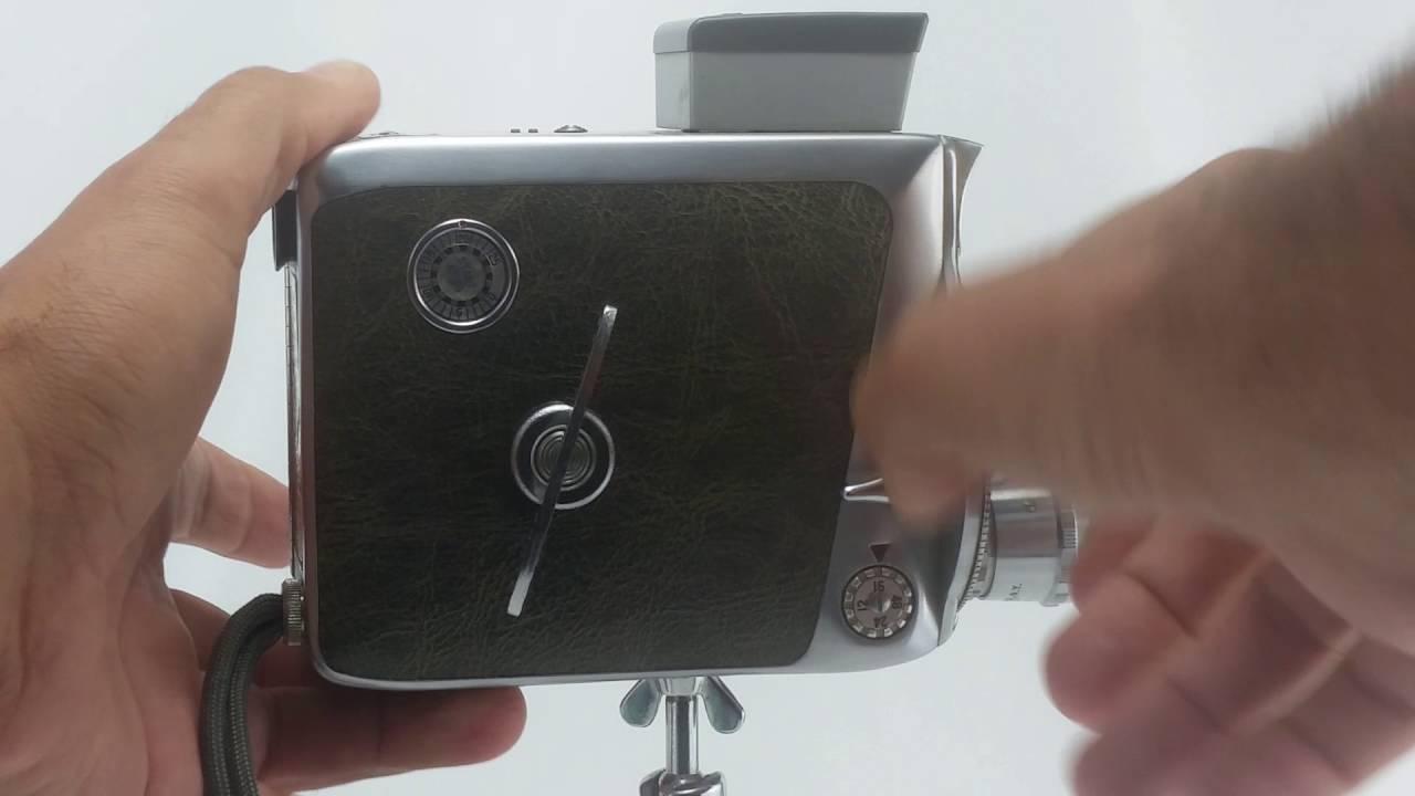 Keystone K-48 8mm Movie Camera w/3 Removable Lenses & Tripod