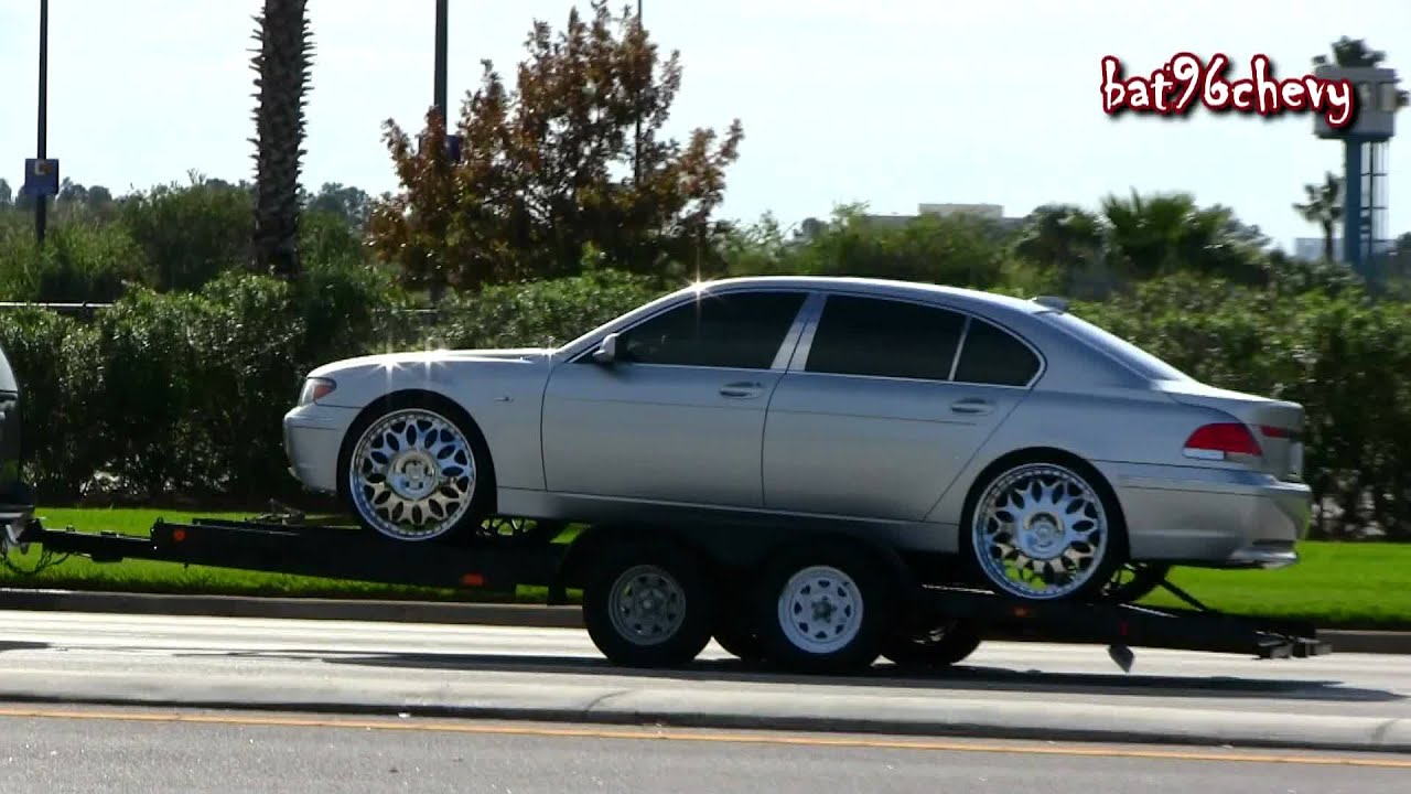 Tahoe On 26s Towing A BMW 745 Li 24 Forgiatos Outrageous Impala 28s