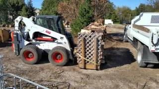 How I load the firewood into the truck.