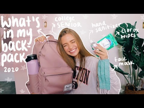 WHAT'S IN MY COLLEGE BACKPACK/SCHOOL SUPPLIES HAUL 2020