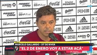 Marcelo Gallardo confirmó que sigue en River