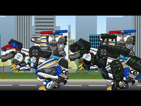 Tyrabo Double Cops Dino Robot (Трансформеры роботы динозавры: коп Тарбозавр)