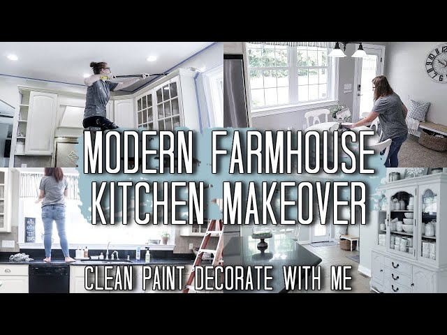 New House Updates! DIY Farmhouse Kitchen Transformation Makeover on a Budget | Clean #WithMe 2020