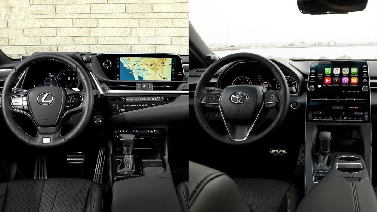 Avalon Vs Camry >> 2019 Lexus ES VS 2019 Toyota Avalon - INTERIOR - YouTube
