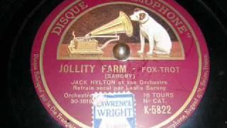 Jolity Farm Leslie Sarony with Jack Hylton & His Orchestra
