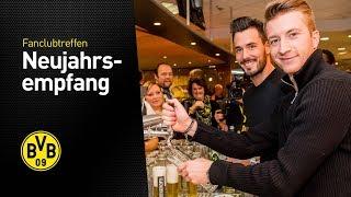 Reus, Bürki und Co. am Zapfhahn | Alles vom BVB-Fanclub-Neujahrsempfang 2018
