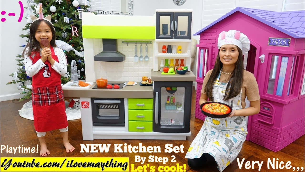 Step 2 Toy Food : Food cooking pretend playtime kitchen playset unboxing