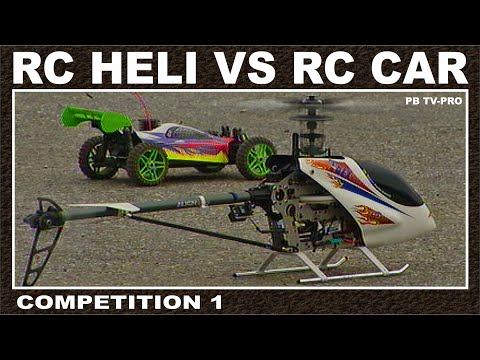 RC Helicopter Landing  / RC Heli Vs RC Car / Competition 1