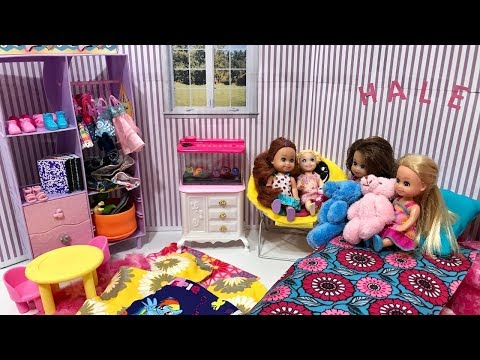 Barbie SLEEPOVER with Haley and Ally!!