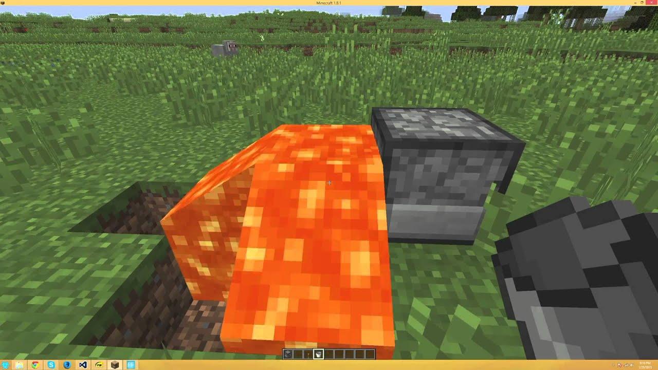 Infinite lava source minecraft