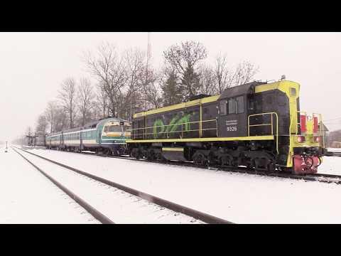 Тепловоз ТЭМ2У-9326 на ст. Вайвара / TEM2U-9326 at Vaivara station