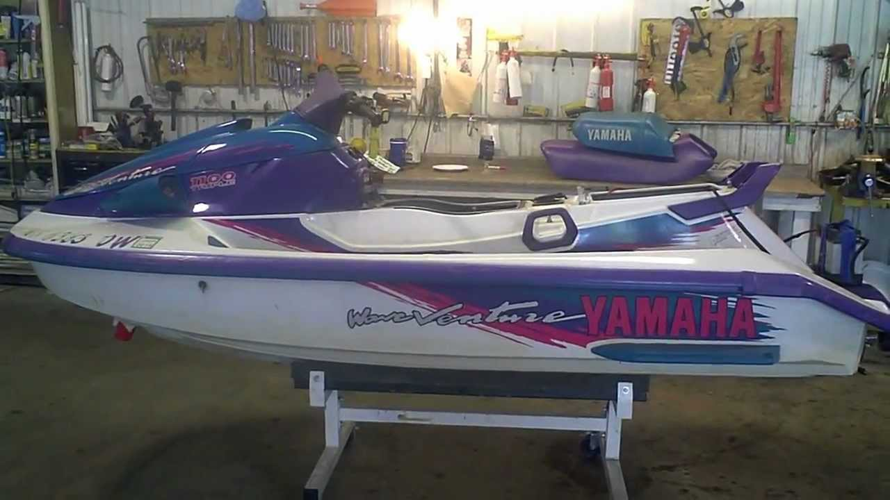 Running Yamaha Jet Ski Out Of The Water