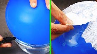Você já colocou toalhas de papel em um balão de festa? Isso cria algo muito legal!
