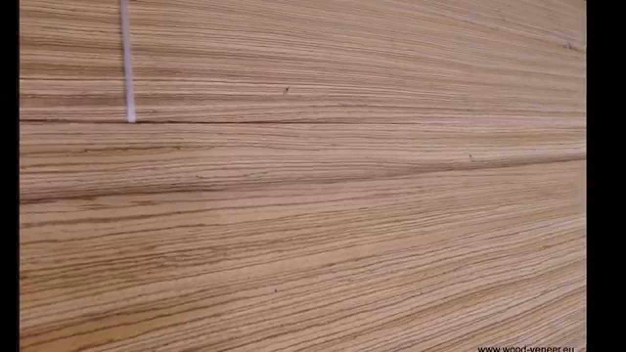 Zebrano Veneer HD - YouTube