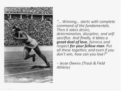Jesse Owens, winning