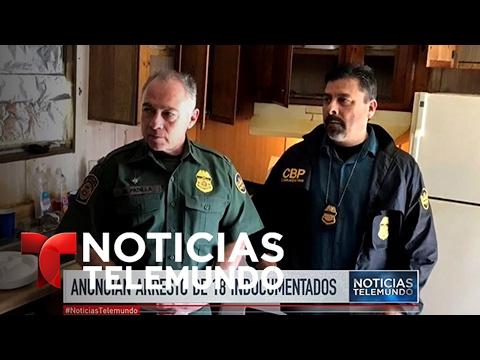 Senador John Cornyn informó el arresto de 18 indocumentados | Noticiero | Noticias Telemundo