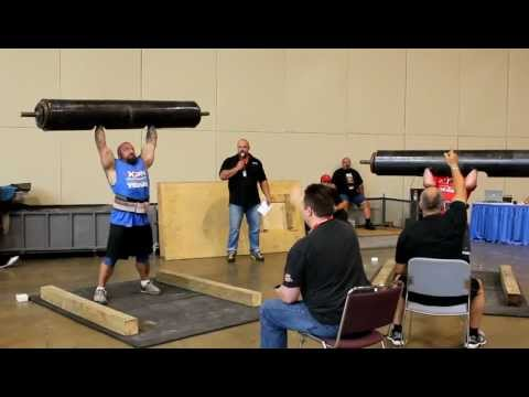 Dallas Hogan and Karl Hjelholt 280 Log Press - 2011 Ontario Strongman