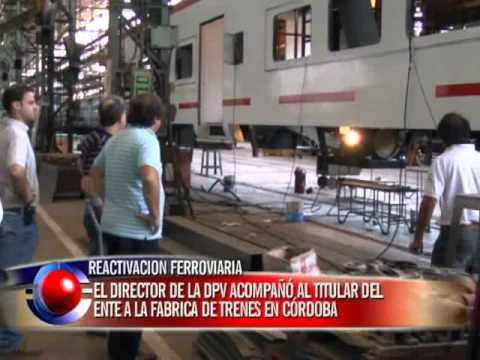 El director de vialidad visitó la fábrica de trenes Materfer en Córdoba