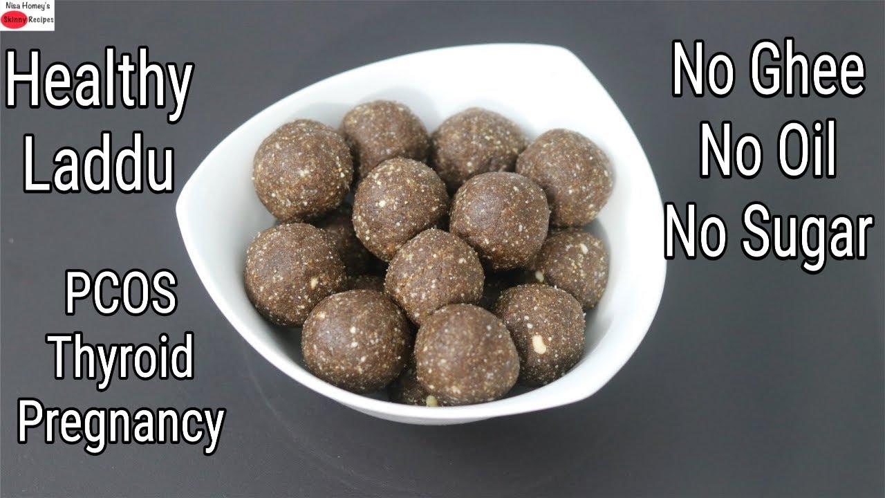 Healthy Laddu - No Ghee, No Oil, No Refined Sugar - Poongar Rice Laddu Recipe | Skinny Recipes