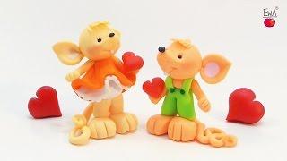 ♡ MOUSE in love ♡  MYSZKA z modeliny - polymer clay tutorial