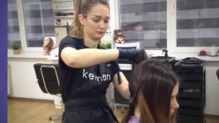 Окрашивание волос, балаяж. Из брюнетки в блондинку