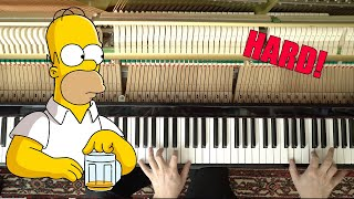 The Simpsons Theme on Piano