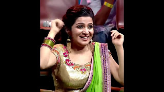Repeat youtube video Anchor Dhivyadharshini (DD) hot boobs and navel in saree