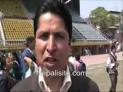 Rishi Dhamala speaking about late Girija P Koirala