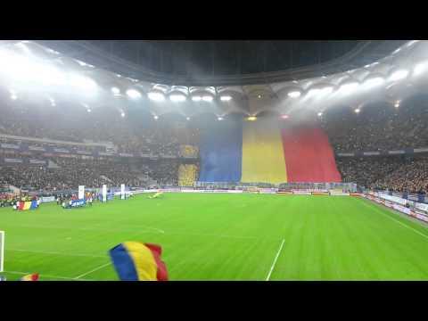 Romania - Greece : Imnul national - Amazing crowd (Best anthem) - Desteapta-te romane!