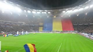 Romania - Greece Imnul national - Amazing crowd (Best anthem) - Desteapta-te romane!