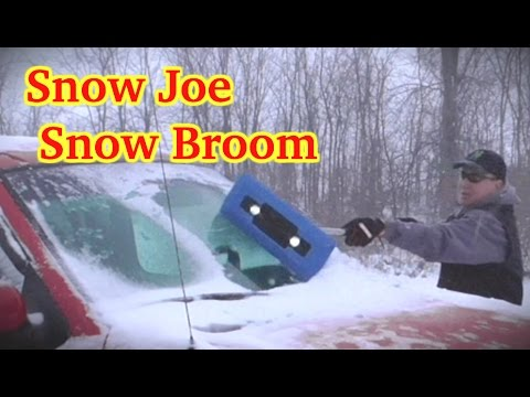 Snow Joe Led Lighted 4 In 1 Snow Broom Youtube