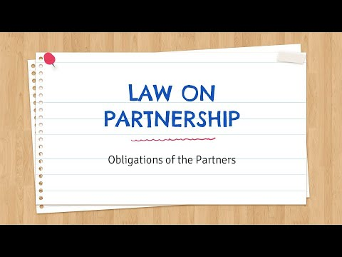 Law On Partnership - Obligations Of The Partners