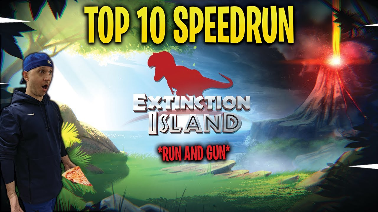 TRY TO KNOCK ME OUT!! *Speedrun Tournament* Extinction Island Top 10 Finish