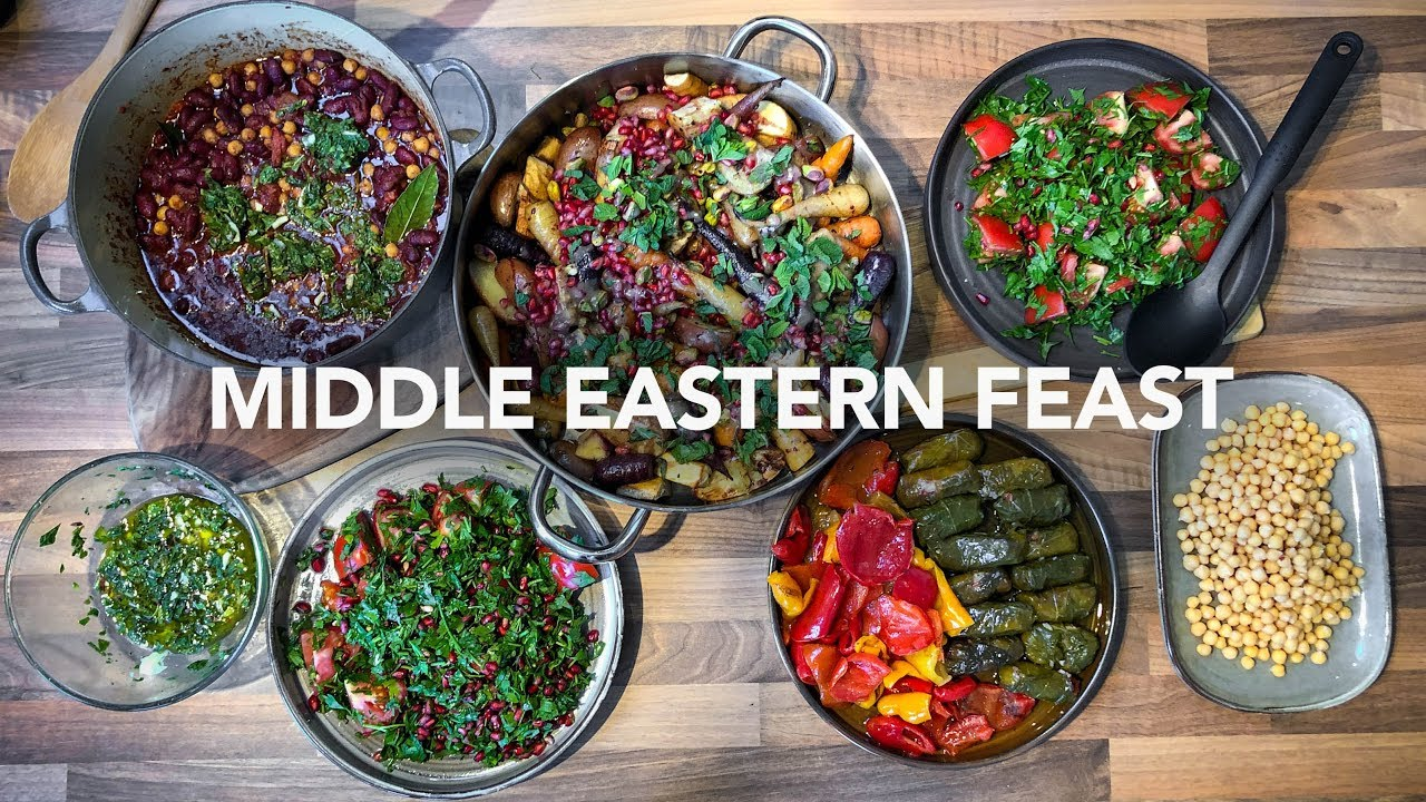 Cooking A Middle Eastern Feast for 5 Hungry Women in Under An Hour!