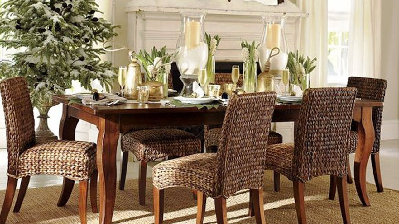 Awesome dining tables decoration ideas youtube for Long dining table decor