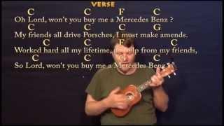 Mercedez Benz (Janis Joplin) Ukulele Cover Lesson with Chords / Lyrics
