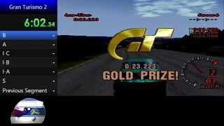 gran turismo 2 pal   all licenses in gold speedrun sample