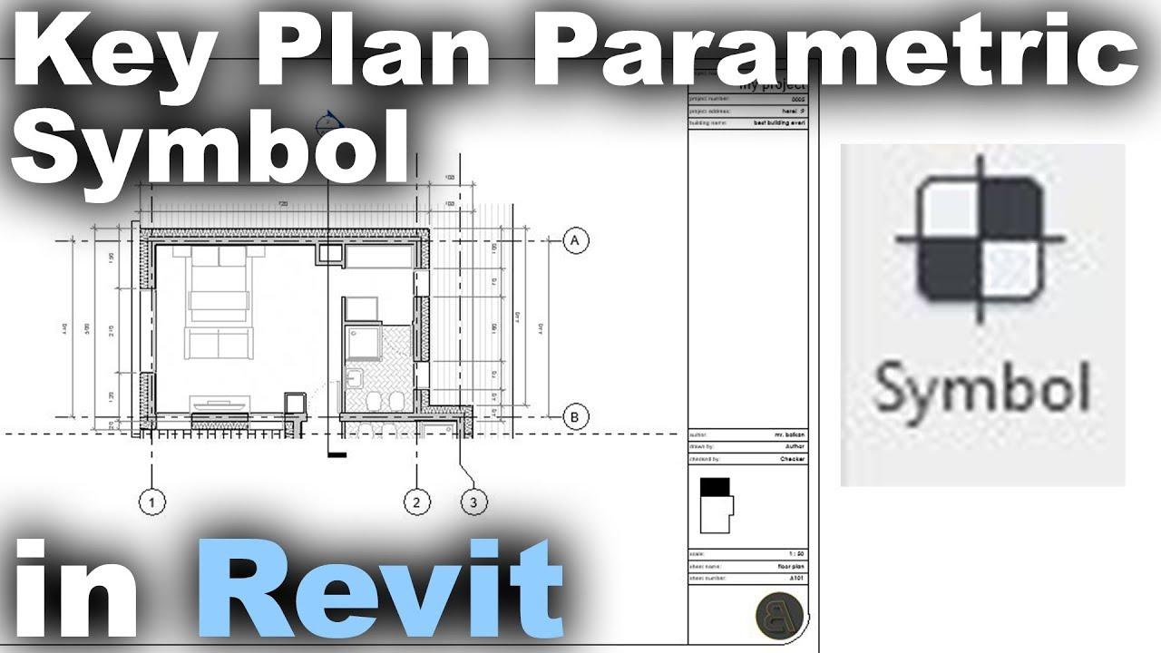 Key Plan Parametric Symbol In Revit Tutorial