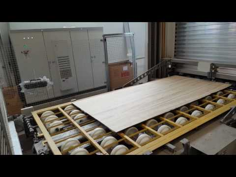 Breton Resin-treating plant under vacuum for marble granite slabs