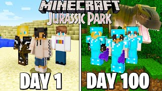 We Survived 100 Days in Jurassic MODDED Minecraft...This is What Happened