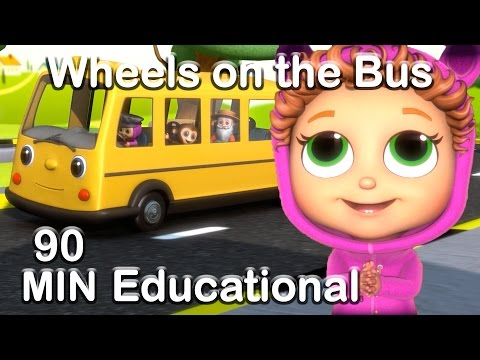 Wheels on the Bus | Educational Nursery Rhyme Compilation