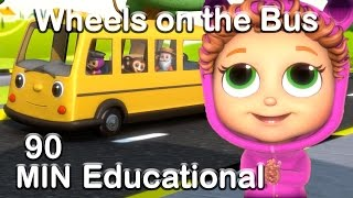 Wheels on the Bus | Educational Nursery Rhyme Compilation thumbnail