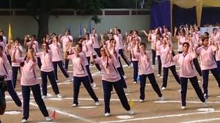 zumba fiesta pt by class 12 lmgc annual sports display