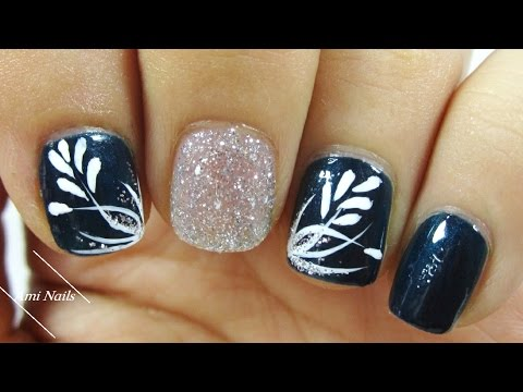 Simple Flower Nail Designs Ami Nails Youtube