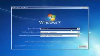 Windows 7 installeren
