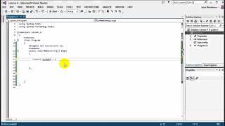 Advanced C#: Lesson 4 - Delegates Events and Lambda expressions